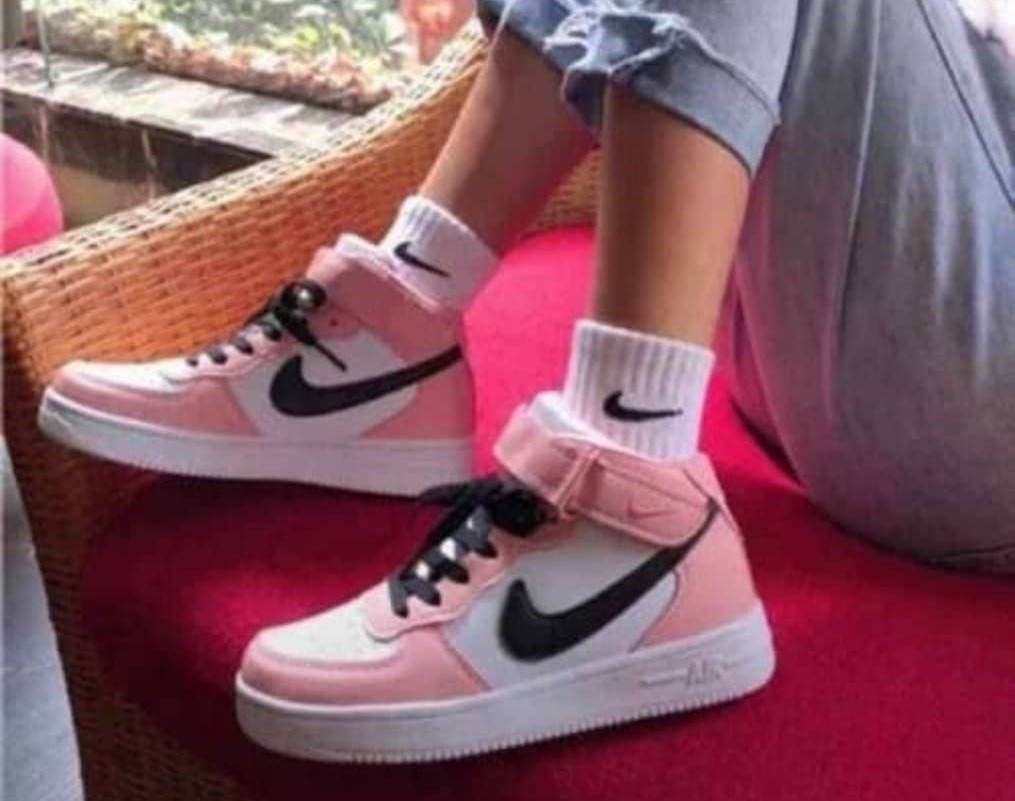 Nike pink sneakers for women