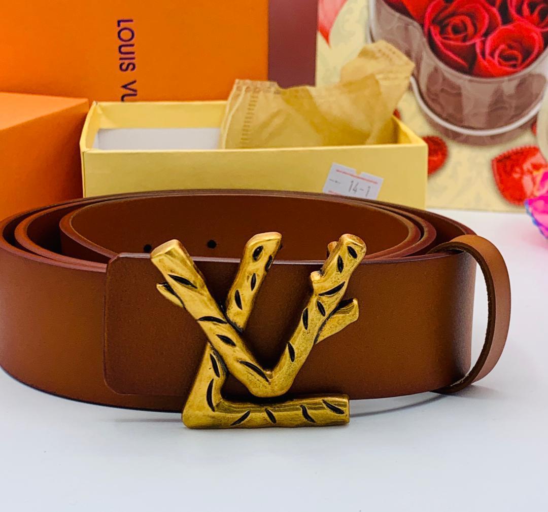 Brown Louis Vuitton men belt
