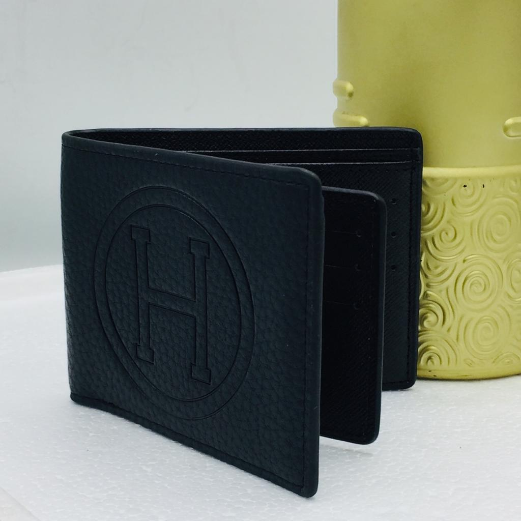 Business Casual Wallet Men Top Layer Cow Leather Purses Men Short Wallets Metal