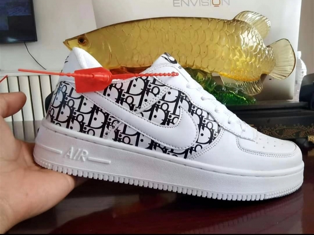 Nike Air Force Dior Sneakers(WHITE)