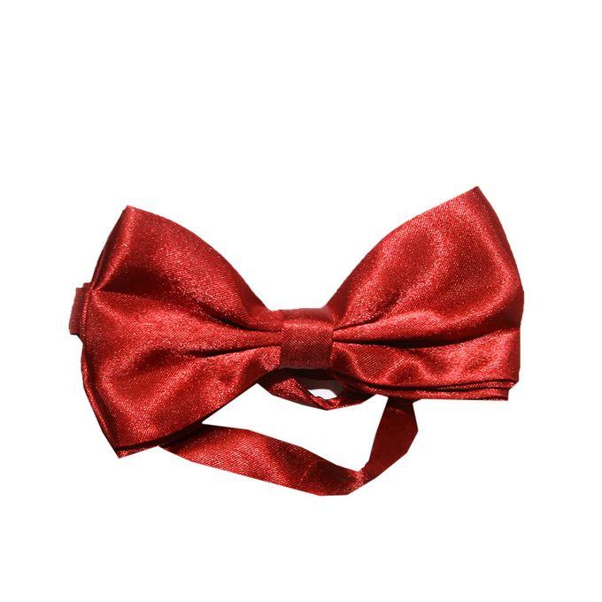 Plain Men's Bow Tie - Red